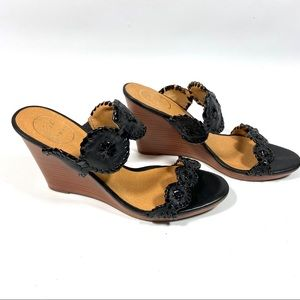 NWT Jack Rogers Luccia Leather Wedge Sandal heel